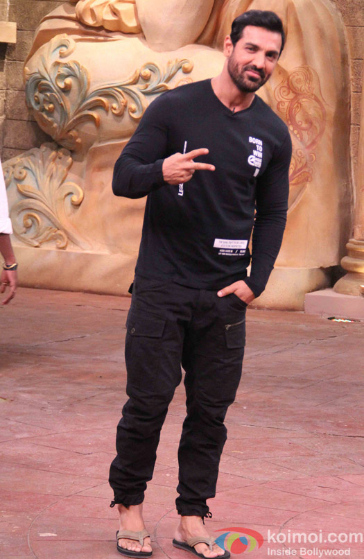John Abraham during the promotion of film Force 2 on the sets of Comedy Nights Bachao