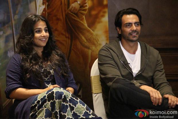 Vidya Balan and Arjun Rampal during the Kahaani 2 promotion