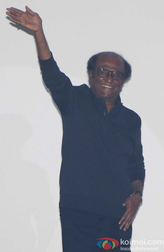 Rajinikanth during the first look launch of film 2.0