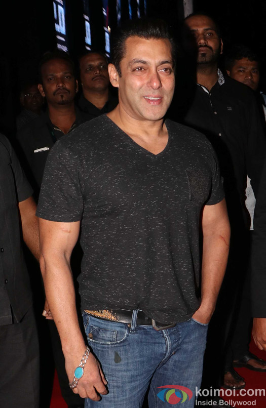 Salman Khan during the first look launch of film 2.0