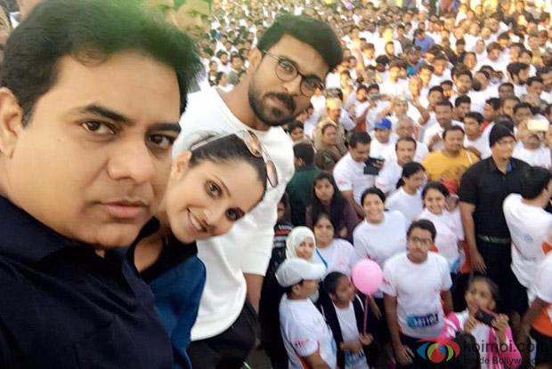 Ram Charan, Sania Mirza flag off Hyderabad 10K Run