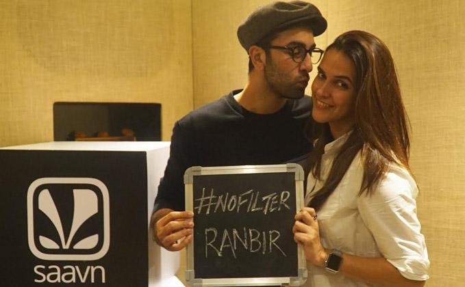 Ranbir Kapoor and Neha Dhupia on Saavn