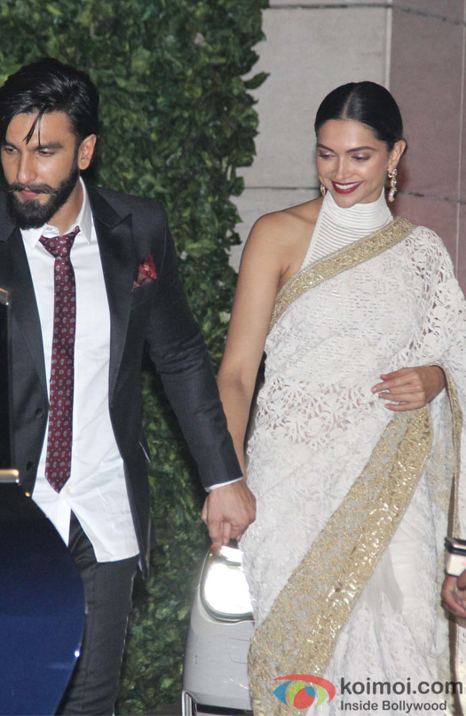 Ranveer Singh and Deepika Padukone at Mukesh and Nita Ambani's niece Isheta's Pre wedding Party