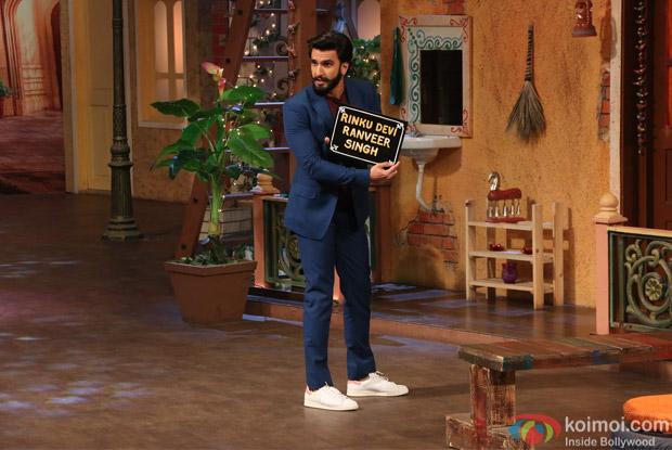 Ranveer Singh on the sets of The Kapil Sharma Show