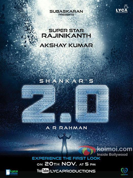 Revealed: Teaser Poster Of Rajinikanth-Akshay Kumar Starrer 2.0