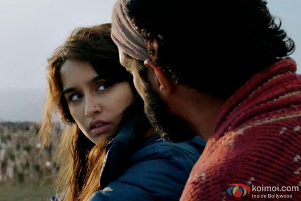 Shraddha Kapoor and Farhan Akhtar in a still from Rock On 2