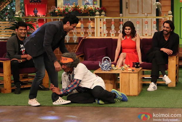 Farhan Akhtar, Arjun Rampal and Prachi Desai at Kapil Sharma Show