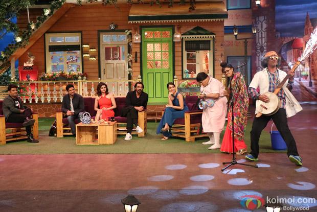 Farhan Akhtar, Arjun Rampal, Shraddha Kapoor and Prachi Desai at Kapil Sharma Show
