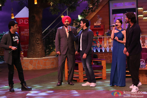 Farhan Akhtar, Arjun Rampal and Shraddha Kapoor at Kapil Sharma Show