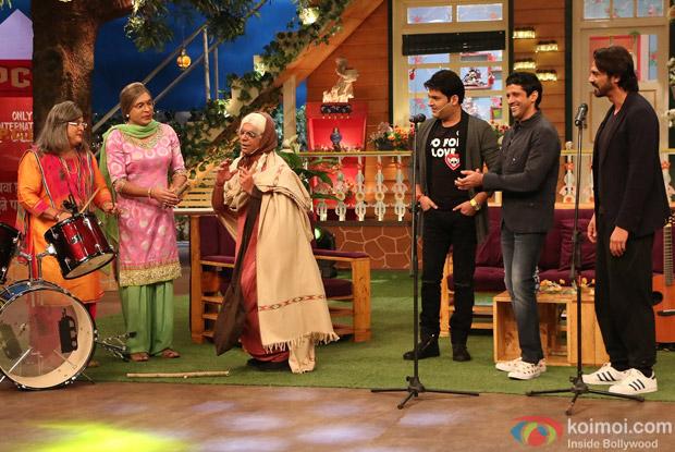 Farhan Akhtar and Arjun Rampal at Kapil Sharma Show