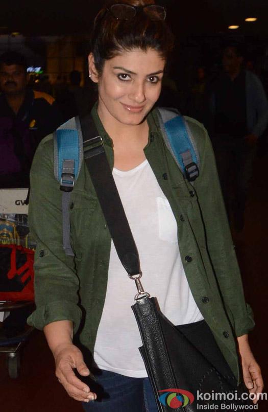 Raveena Tondon spotted at Airport