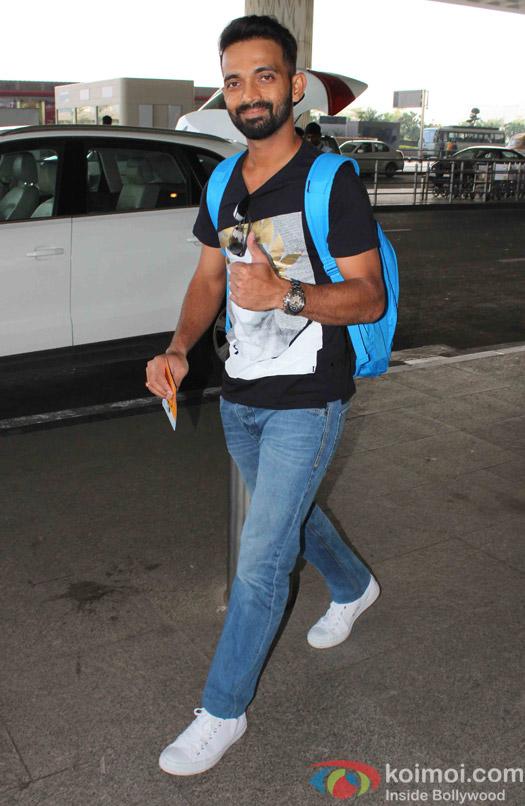 Ajinkya Rahane spotted at Airport