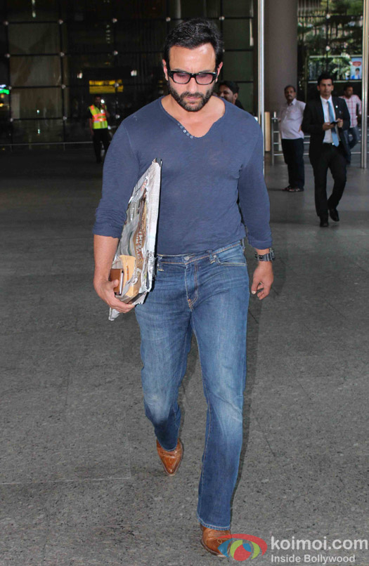 Saif Ali Khan spotted at Airport