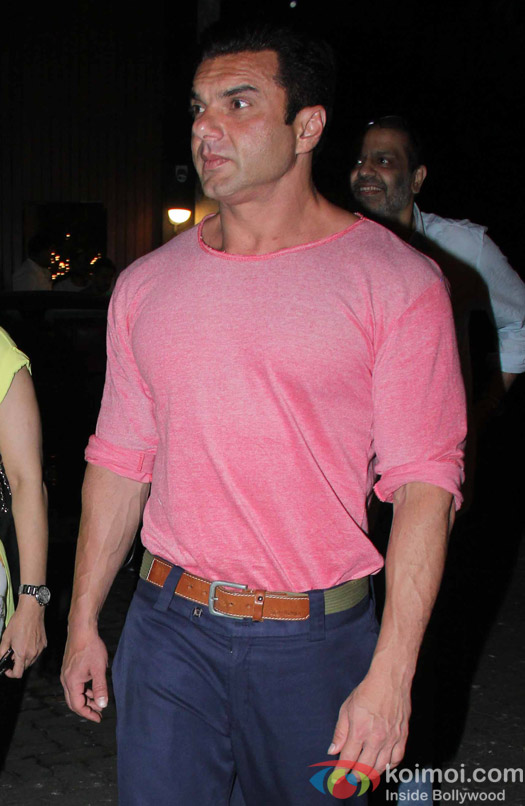 Sohail khan spotted at chunky panday's house