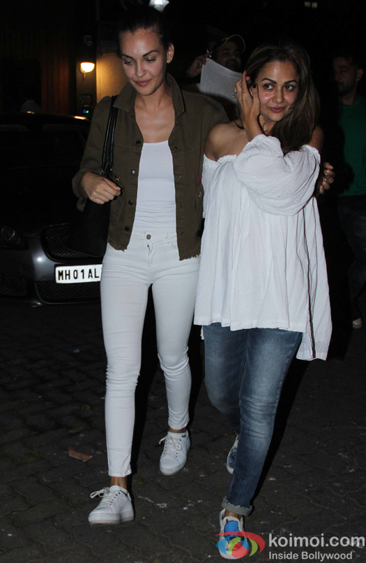 Amrita Arora spotted at chunky panday's house