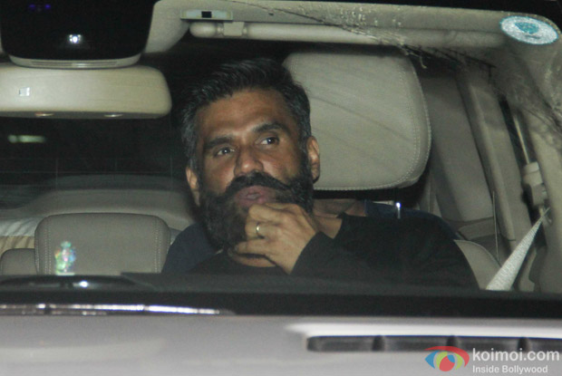 Suniel Shetty spotted at Salman Khan's House