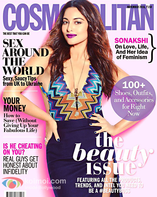Sonakshi Sinha On The Cover Of Cosmopolitan