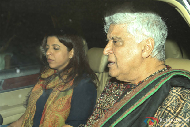 Zoya Akhtar and Javed Akhtar during the special screening of Dear Zindagi