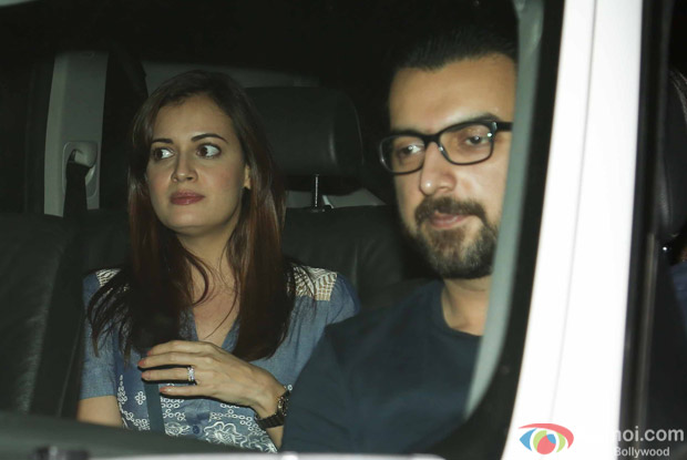 Dia Mirza and Sahil Sangha during the special screening of Dear Zindagi