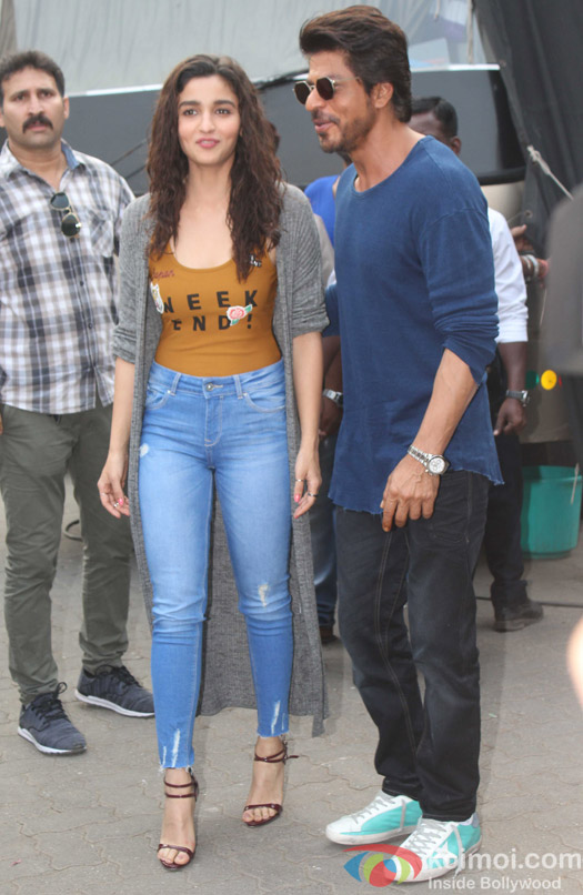 Alia Bhat and Shah Rukh Khan spotted at Mehboob Studio