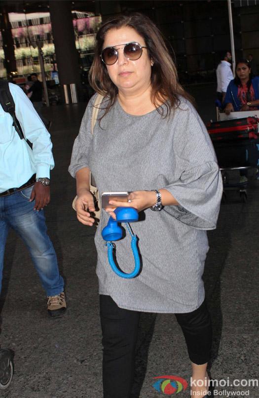 Farah Khan spotted at Airport