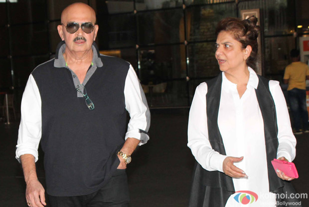 Rakesh Roshan along with wife Pinky Roshan spotted at Airport