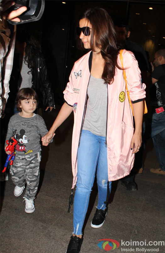 Alia Bhatt and Abram khan spotted at Airport