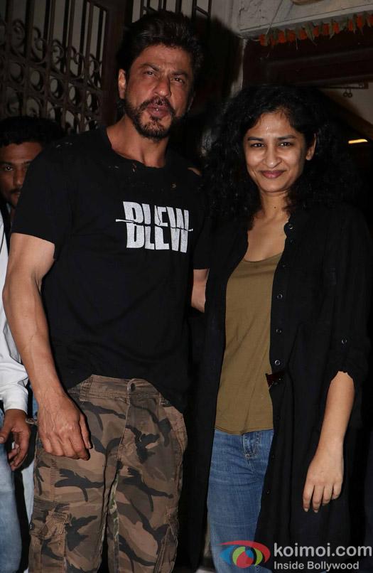 Shah Rukh Khan and Gauri Shinde spotted at Bandra