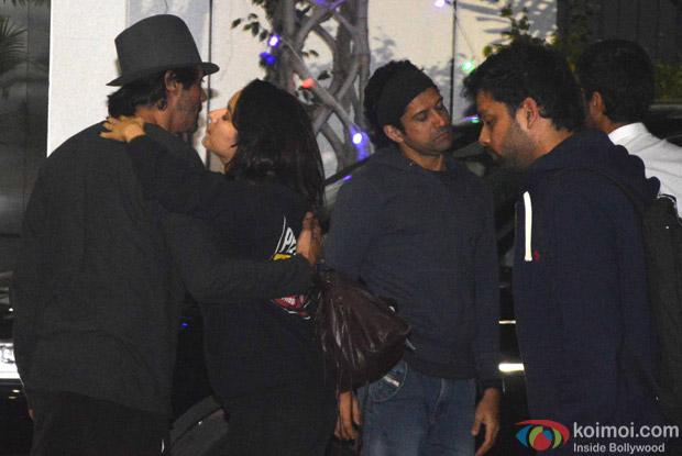 Shraddha Kapoor, Farhan Akhtar and Arjun Rampal spotted at Airport