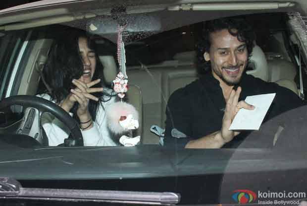 Tiger Shroff with Disha Patani spotted at Bandra