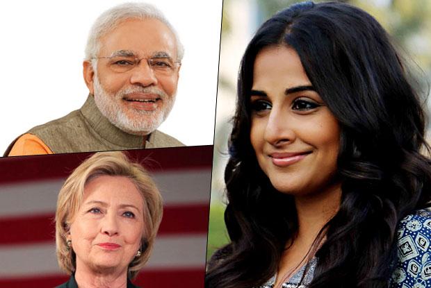 Vidya Balan Supported Hillary Clinton And Modi's Decision