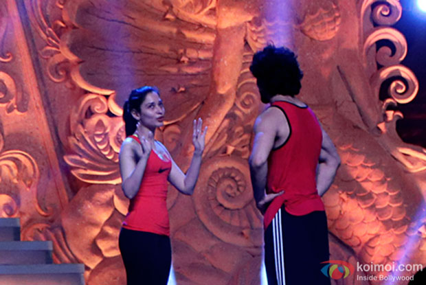 Tamannaah Bhatia and Tiger Shroff were practicing their dance moves for the event