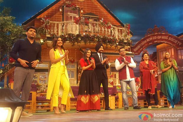 Priyanka Chopra and Deepshikha Deshmukh at The Kapil Sharma Show
