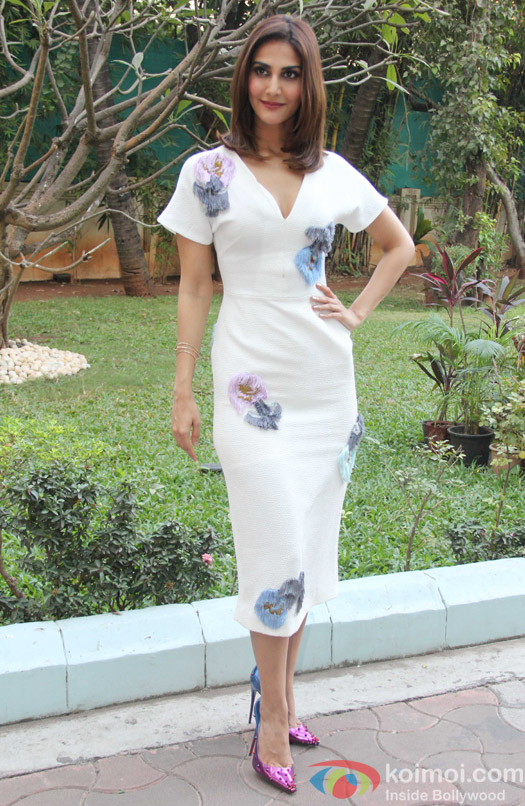Vaani Kapoor during the promotion of Befikre at YRF studio