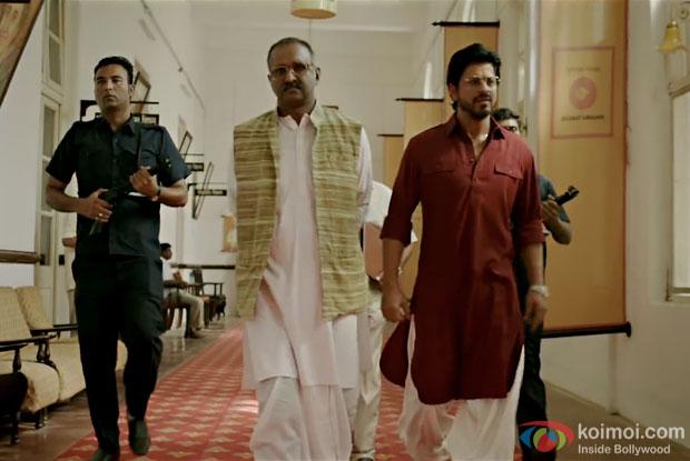 Shah Rukh Khan in a still from Raees