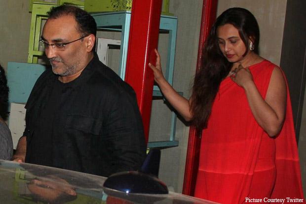 Spotted: Rani Mukerji Alongwith Husband Aditya Chopra