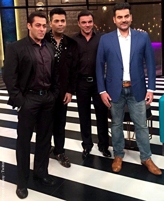 Salman Khan shot 100th Episode of KJo's Koffee with Karan