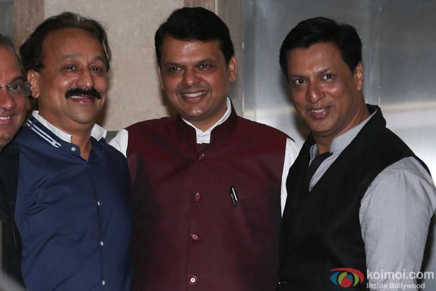 Baba Siddique & Devendra Fadnavis attends Madhur Bhandarkar's house warming party