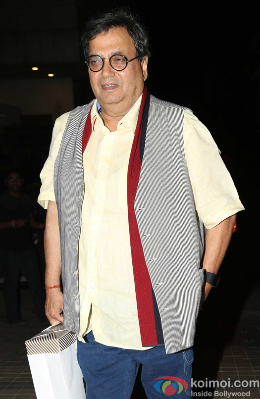 David Dhawan attends Madhur Bhandarkar's house warming party