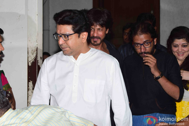 Shah Rukh Khan meets Raj Thackeray at his Residence