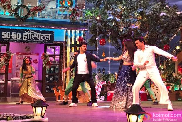 Sunny Leone, Daniel Weber on the sets of The Kapil Sharma Show