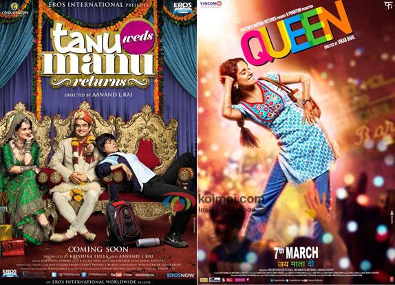 Tanu Weds Manu Returns and Queen Posters