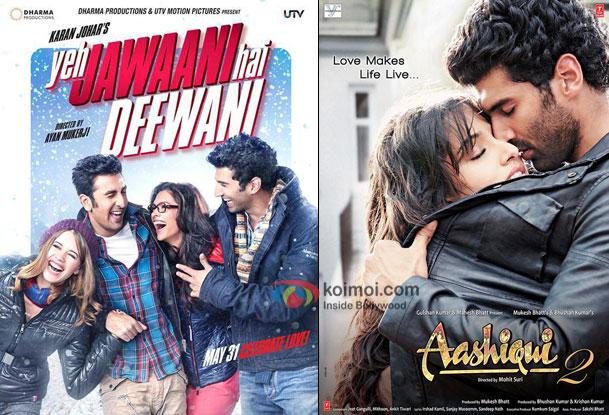 Yeh Jawaani Hai Deewani and Aashiqui 2 posters