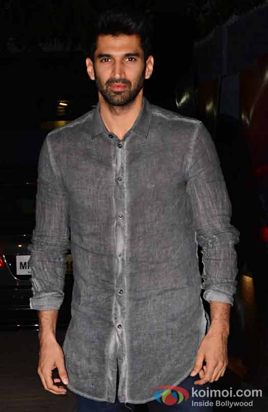 Aditya Roy Kapur during the screening of OK Jaanu