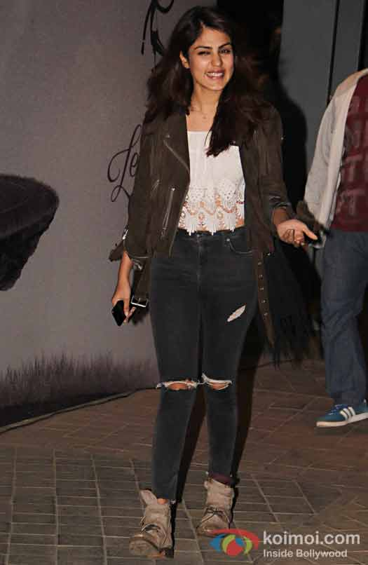 Rhea Chakraborty during the screening of OK Jaanu