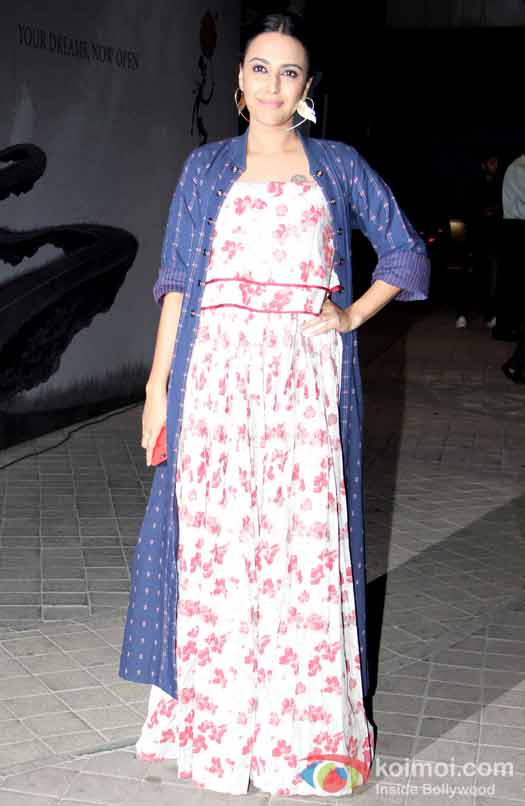 Swara Bhaskar during the screening of OK Jaanu