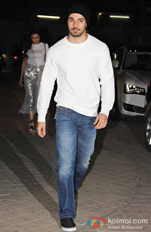 Sooraj Pancholi during the screening of OK Jaanu