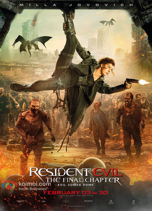 Milla Jovovich starrer Resident Evil : Final Chapter poster out