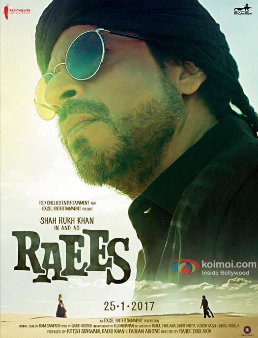 Catch Shah Rukh Khan's Deadly Look On The New Raees Poster!