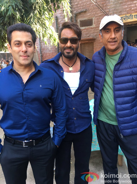 Sultan Salman Khan Visits On The Set Of Ajay Devgn's Baadshaho